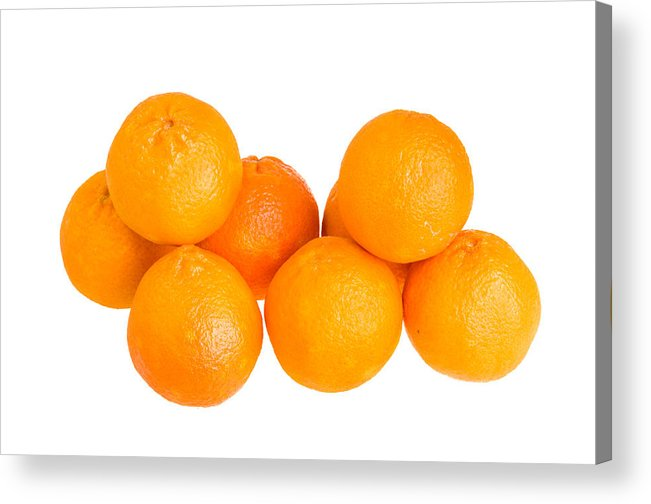 Food Acrylic Print featuring the photograph Clementine Oranges by John Trax