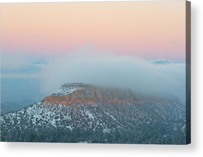 Sunset Acrylic Print featuring the photograph Cloud Blanket by Corinna Stoeffl