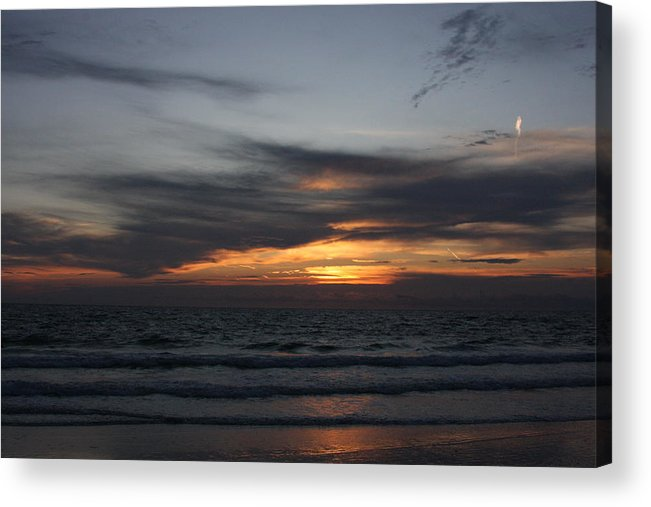 Water Acrylic Print featuring the photograph Clouds Against The Sunrise by David Rosenthal