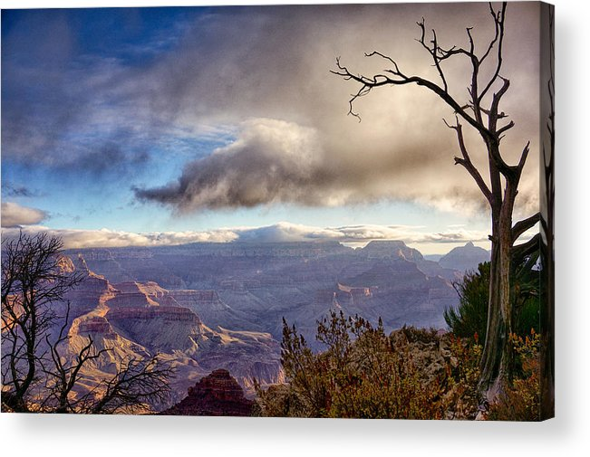 Grand Canyon Acrylic Print featuring the photograph Clouds Over Canyon by Lisa Spencer