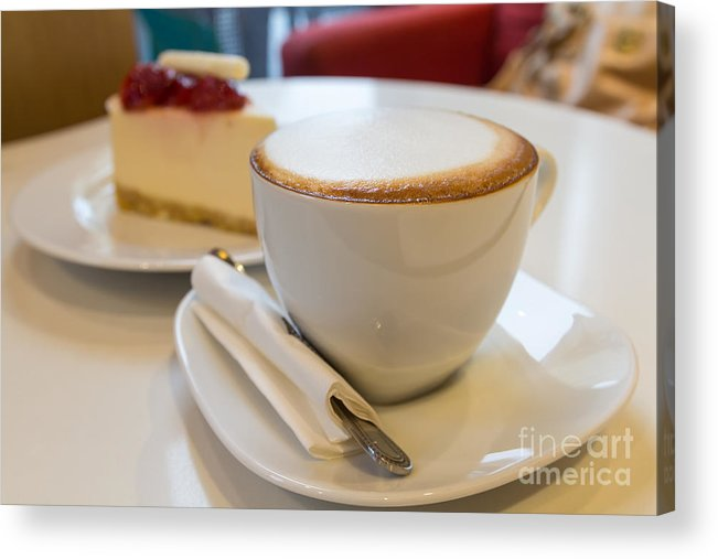 Afternoon Acrylic Print featuring the photograph Coffee Time by Tosporn Preede