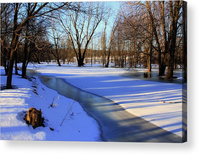Winter Acrylic Print featuring the photograph Collins Creek In Winter by Jim Vance