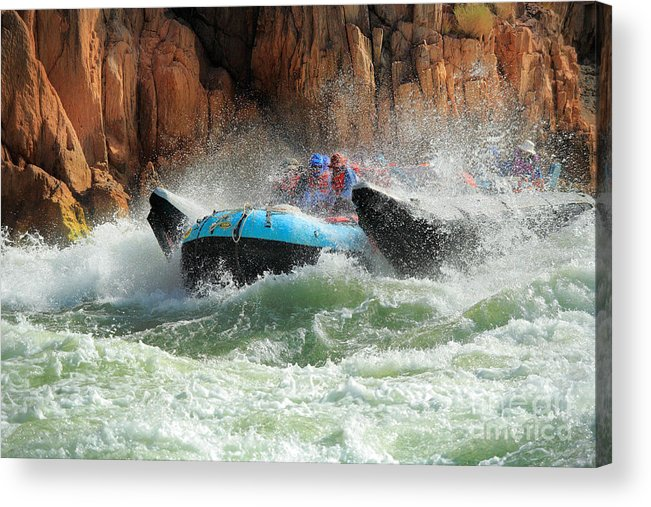 America Acrylic Print featuring the photograph Colorado River Rafters by Inge Johnsson