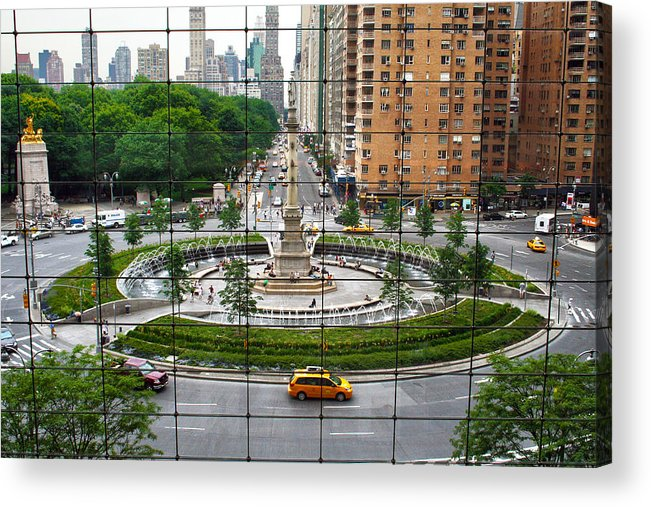 Nyc Acrylic Print featuring the photograph Columbus Circle by Mitch Cat