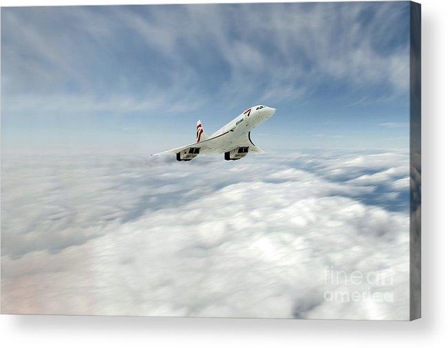 Concorde Acrylic Print featuring the digital art Concorde Legend by J Biggadike