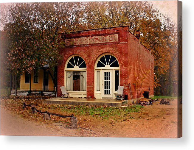Cook Station Acrylic Print featuring the photograph Cook Station Bank by Marty Koch