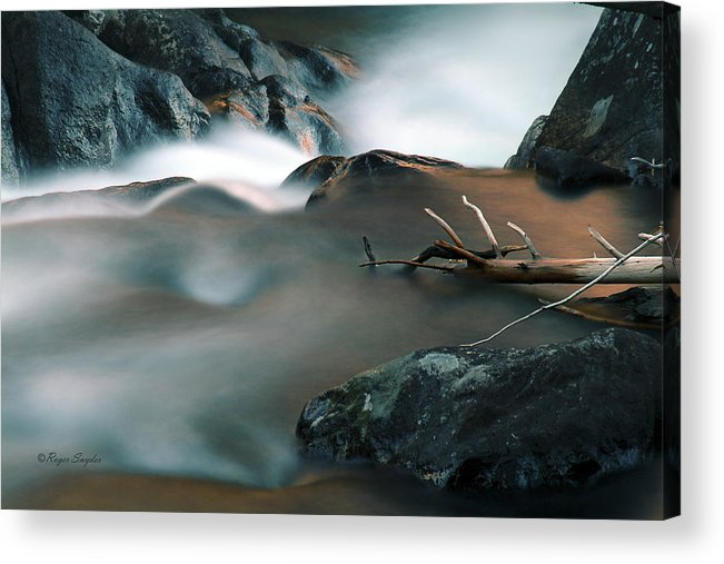 Unique Acrylic Print featuring the photograph Copper Stream 2 by Roger Snyder