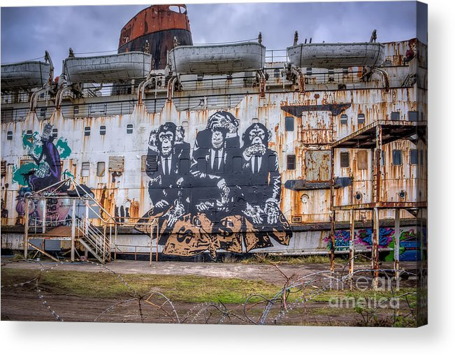 Abandoned Acrylic Print featuring the photograph Council Of Monkeys by Adrian Evans