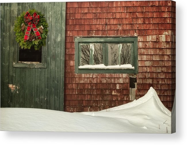 Barn Acrylic Print featuring the photograph Country Christmas by Susan Capuano