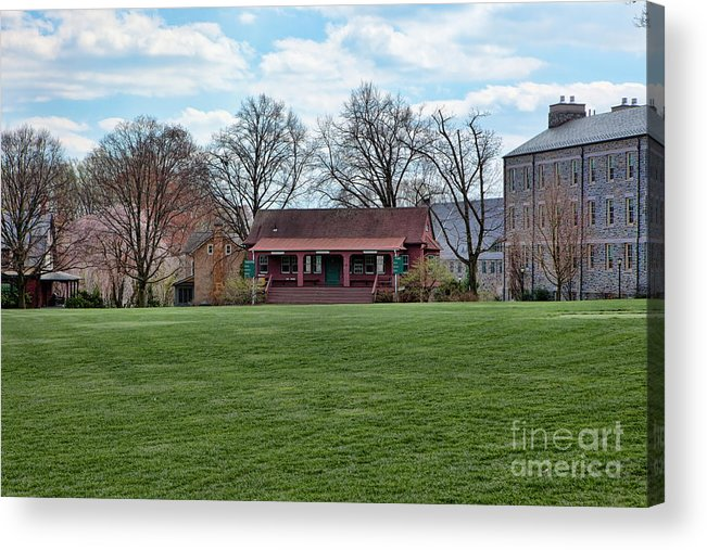 Haverford Acrylic Print featuring the photograph Cricket Field Haverford College by Kay Pickens