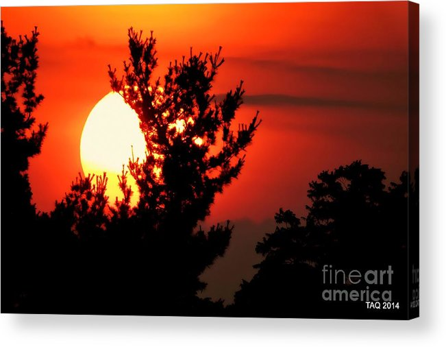 Sunset Acrylic Print featuring the photograph Crimson Sunset by Tami Quigley