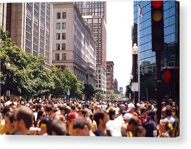 Boston Acrylic Print featuring the photograph Crosswalk by Brian Nogueira