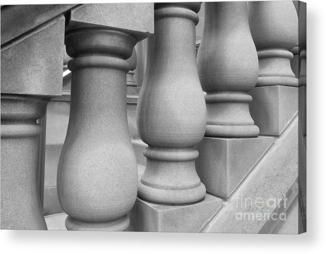Depauw University Acrylic Print featuring the photograph De Pauw University Stone Balustrade by University Icons