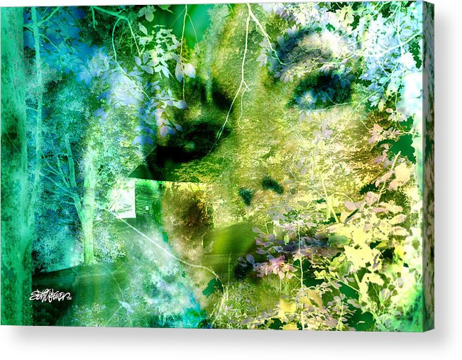 Deep Woods Wanderings Acrylic Print featuring the digital art Deep Woods Wanderings by Seth Weaver