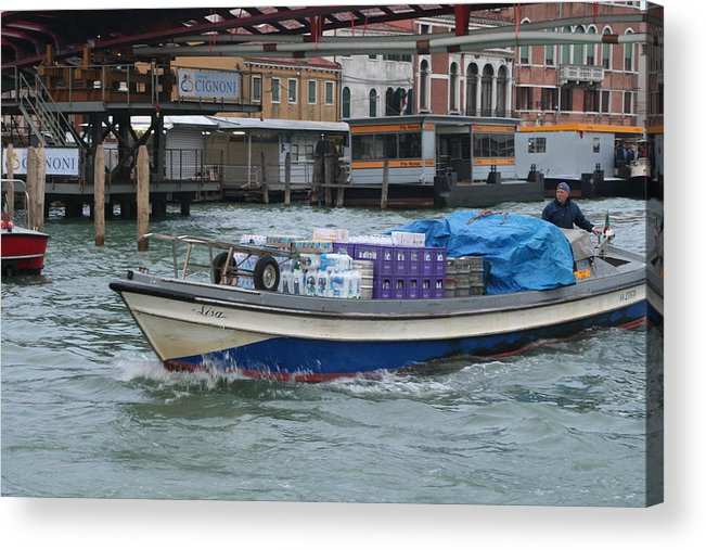 Scenic Acrylic Print featuring the photograph Delivering The Goods by Dick Willis