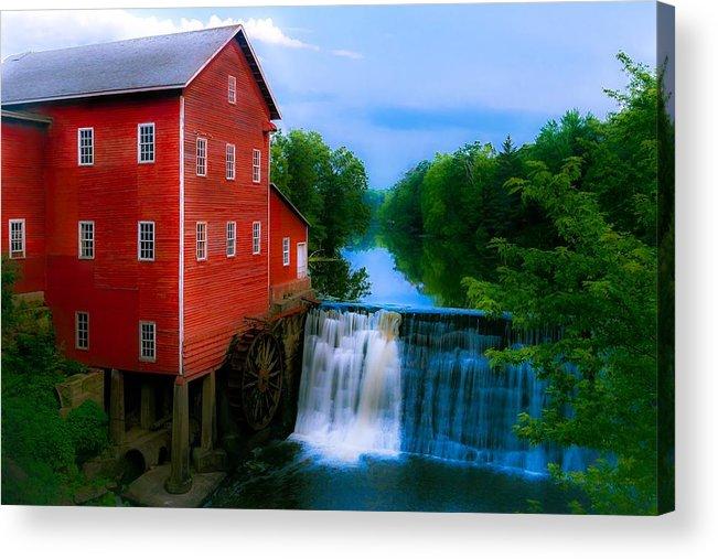 Chuck De La Rosa Acrylic Print featuring the photograph Dells Mill by Chuck De La Rosa