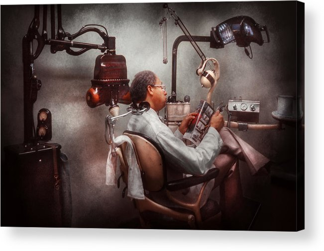 Doctor Acrylic Print featuring the photograph Dentist - Waiting For The Dentist by Mike Savad