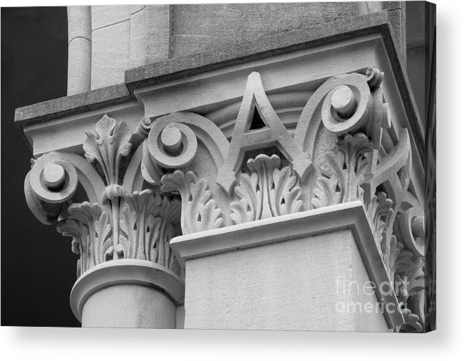 Depauw University Acrylic Print featuring the photograph Depauw University East College Detail by University Icons