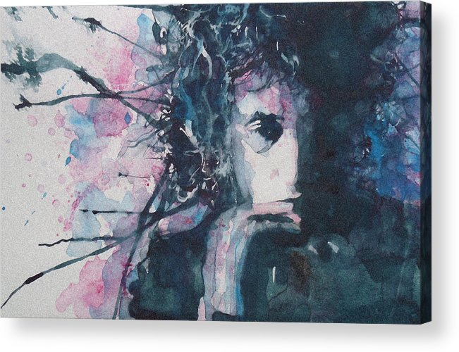 Bob Dylan Acrylic Print featuring the painting Don't Think Twice It's Alright by Paul Lovering