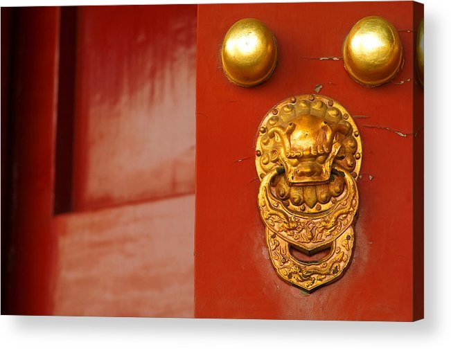China Acrylic Print featuring the photograph Door Handle by Sebastian Musial