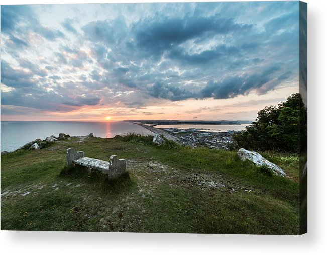 Europe Acrylic Print featuring the photograph Dorset Chesil Beach by Ollie Taylor