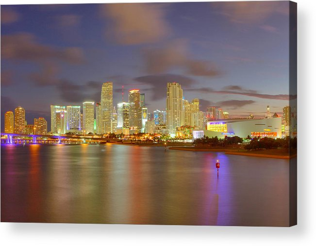 United States Acrylic Print featuring the photograph Downtown Miami And Aaa by Claudia Domenig