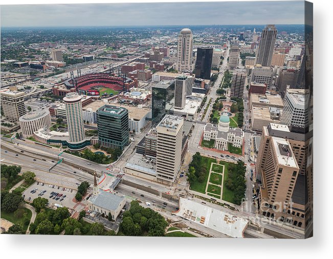 St Louis Acrylic Print featuring the photograph Downtown St Louis by Sophie Doell