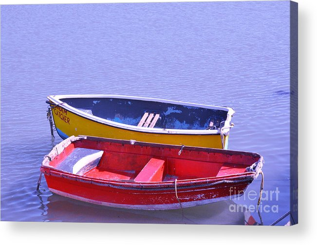Fishing Boats Acrylic Print featuring the photograph Dream Catcher 2 by Heather Watson