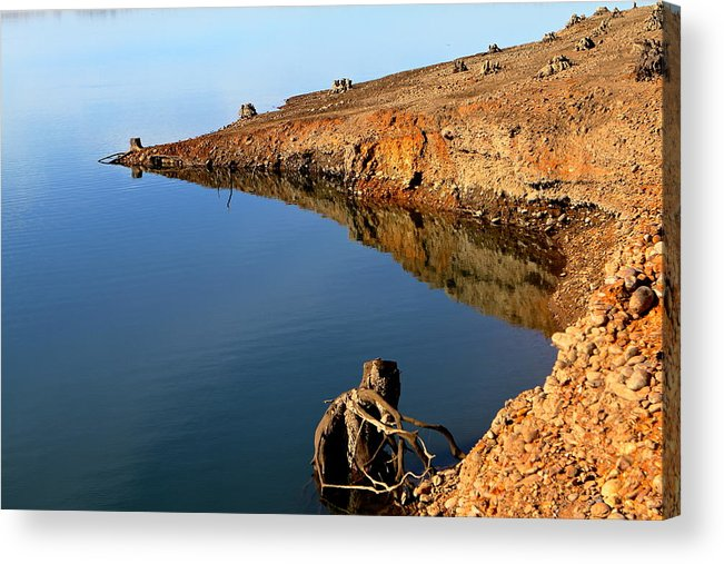 Landscape Acrylic Print featuring the photograph Dry Lake by Sophal Benefield