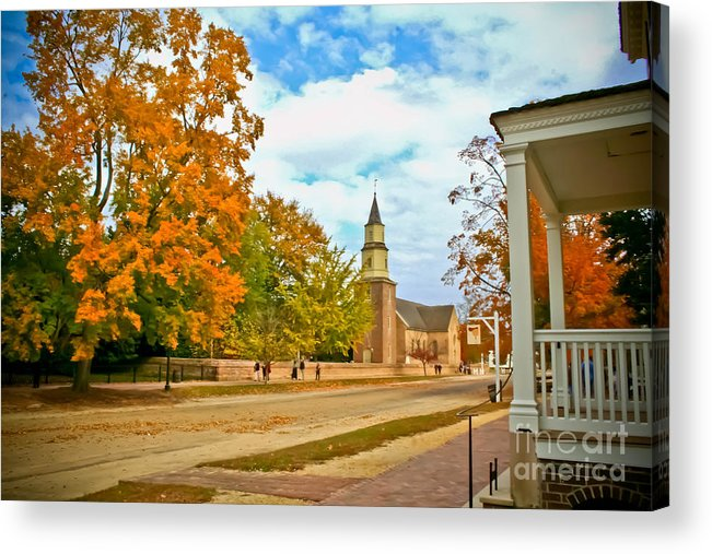 Colonial Acrylic Print featuring the photograph Duke Of Gloucester St. by Zac Cobb