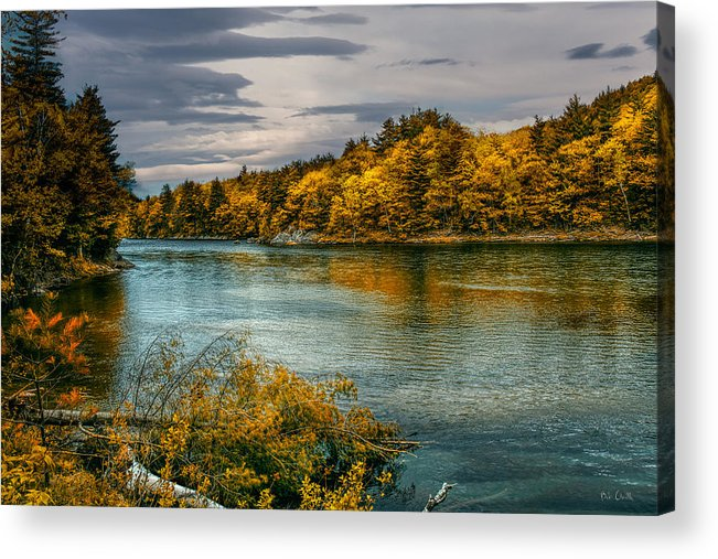 Androscoggin River Acrylic Print featuring the photograph Early Autumn Along The Androscoggin River by Bob Orsillo