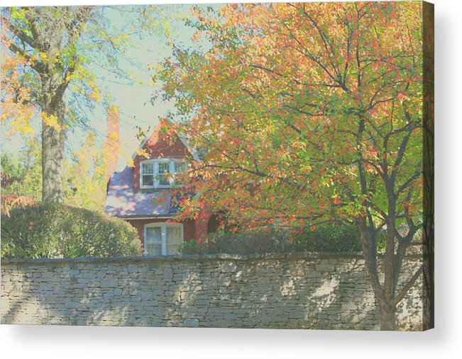 Autumn Acrylic Print featuring the photograph Early Autumn Home by Andrea Lynch