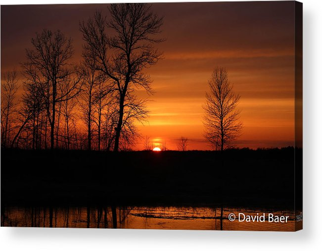 Sunset Acrylic Print featuring the photograph Easter Sunset by David Baer
