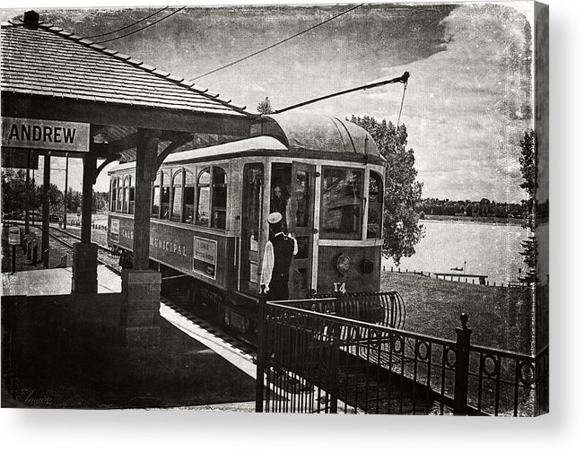 Streetcar Acrylic Print featuring the photograph Electric Streetcar I by Maria Angelica Maira