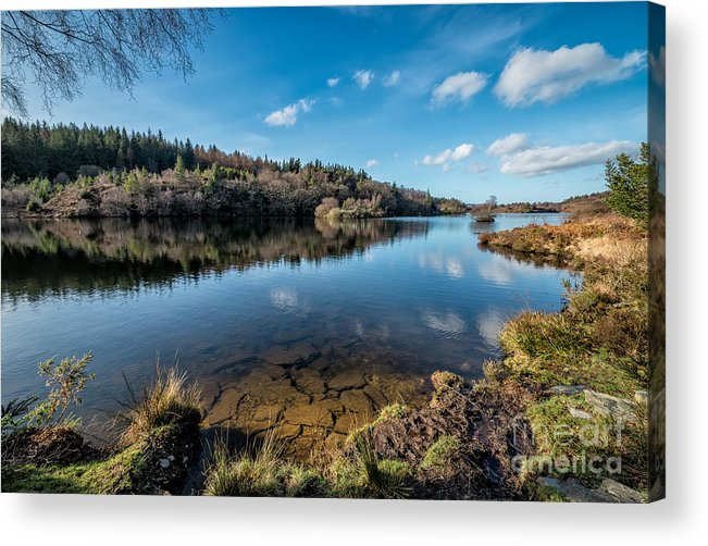Betws Y Coed Acrylic Print featuring the photograph Elsi Reservoir by Adrian Evans