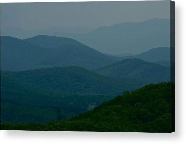 Landscape Pictures Acrylic Print featuring the photograph Blue Ridge Mountain From Virginia Skyline Drive by Blair Seitz