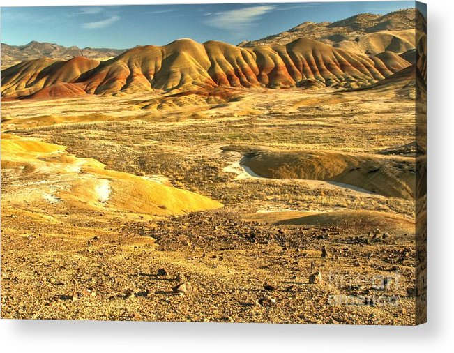 Painted Hills Acrylic Print featuring the photograph Endless Painted Hills by Adam Jewell