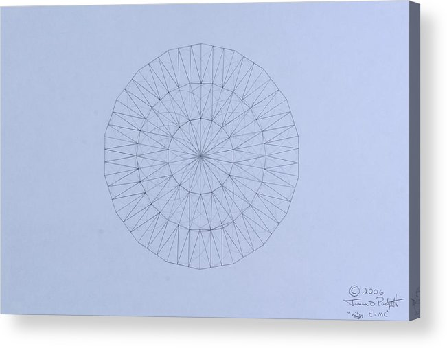 Jason Padgett Acrylic Print featuring the drawing Energy Wave 20 Degree Frequency by Jason Padgett