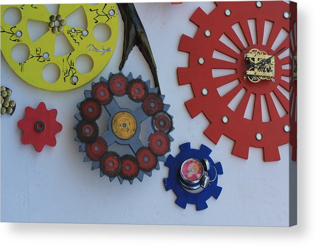 Wheels Acrylic Print featuring the photograph Engineering Wheels by Santosh Jaiswal