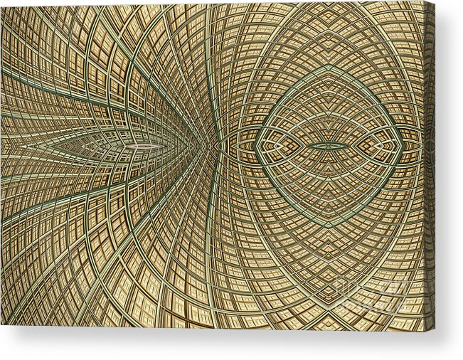 Mesh Acrylic Print featuring the digital art Enmeshed by John Edwards