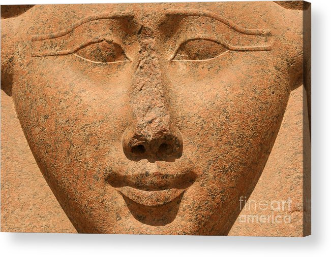 Hathor Acrylic Print featuring the photograph Face Of Hathor by Stephen & Donna O'Meara