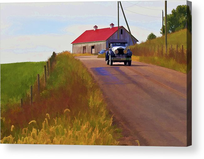 Barn Acrylic Print featuring the photograph Fall Day by Jack R Perry