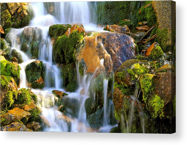 Mountains Acrylic Print featuring the photograph Fallin' Water by Ed Riche