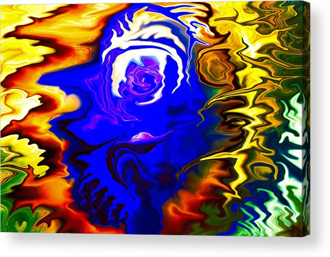 Blue Acrylic Print featuring the painting Falling In Love by Omaste Witkowski