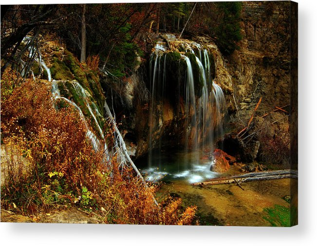 Colorado Acrylic Print featuring the photograph Falls At Hanging Lake by Jeremy Rhoades