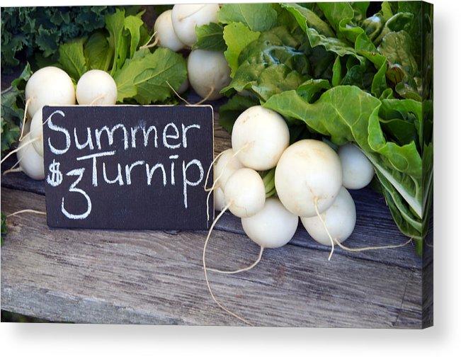 Vegetables Acrylic Print featuring the photograph Farmers Market by Frank Falzett