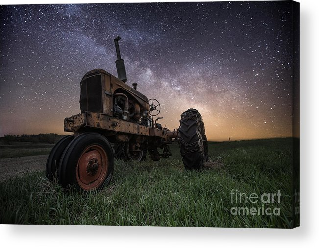 Milky Way Acrylic Print featuring the photograph Farming The Rift 4 by Aaron J Groen