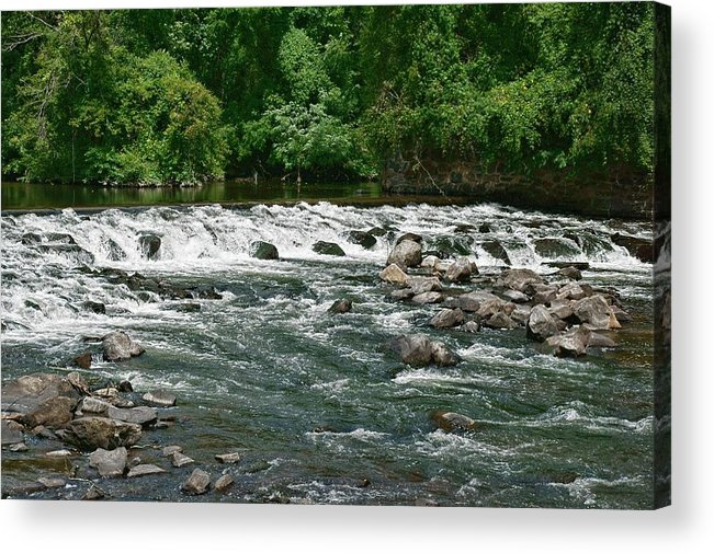 River Acrylic Print featuring the photograph Fast Track by Lanis Rossi