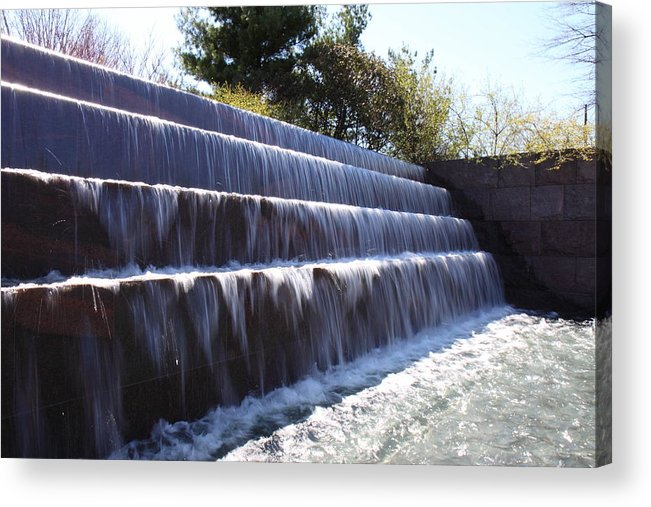 America Acrylic Print featuring the photograph Fdr Memorial - Washington Dc - 01132 by DC Photographer