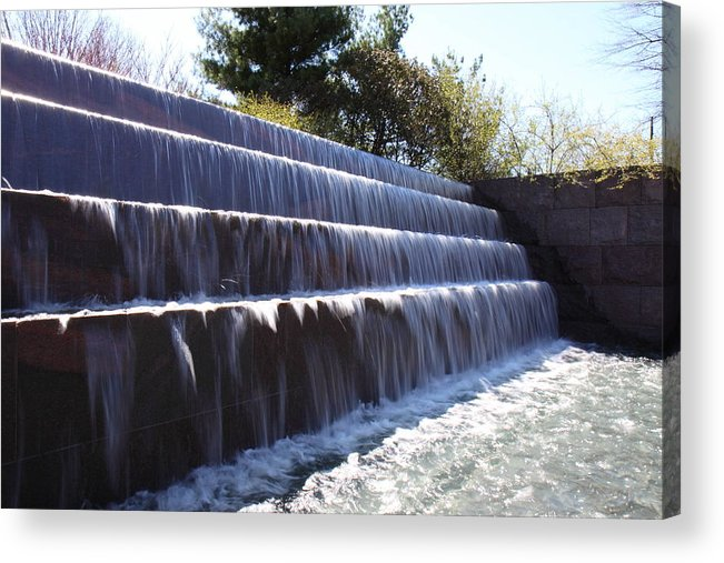 America Acrylic Print featuring the photograph Fdr Memorial - Washington Dc - 01133 by DC Photographer